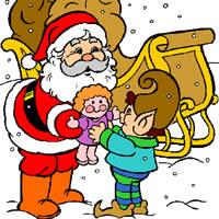 Санта Клаус и Эльф