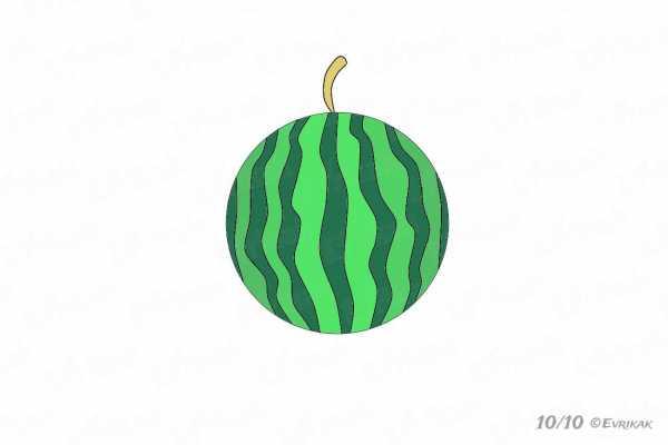 Арбуз рисунок детский – Как нарисовать арбуз - Все для ...
