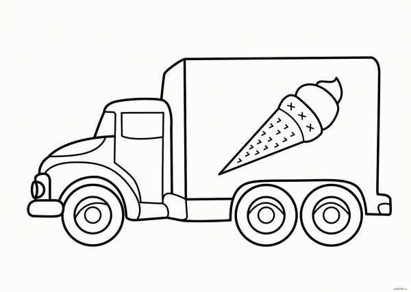Грузовые машины раскраска – Раскраска Грузовик распечатать ...