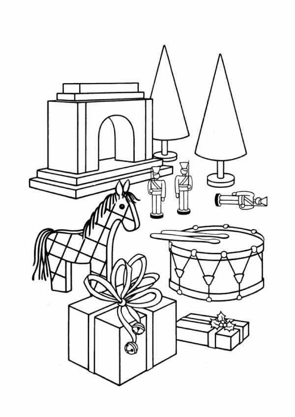 Игрушки картинка раскраска для детей – Раскраски Игрушки ...