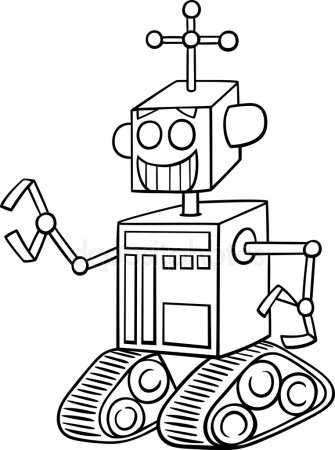 Картинка робот раскраска – Раскраски Роботы - Распечатать ...