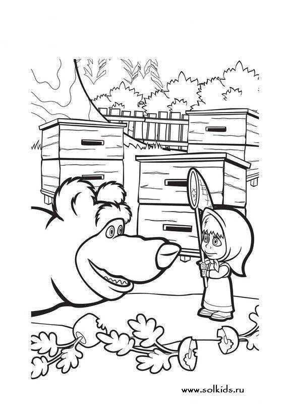 Раскраска для детей медведь – Раскраска Медведь Скачать И ...