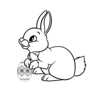 Раскраски зайчик для детей – раскраска заяц для детей ...