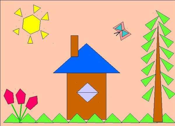 Рисунок из геометрических фигур нарисовать – Ой!