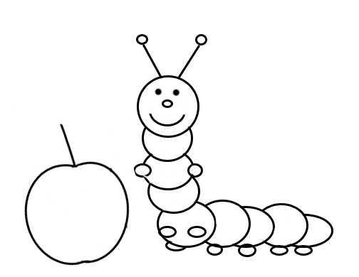 Рисунок яблоко для детей раскраска – Раскраска яблоко для ...